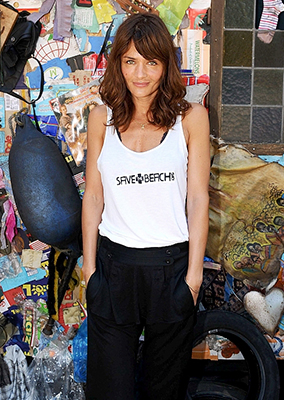 HELENA CHRISTENSEN - CORONA SAVE THE BEACH ROME