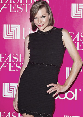 MILLA JOVOVICH - LIVERPOOL FASHION-FEST